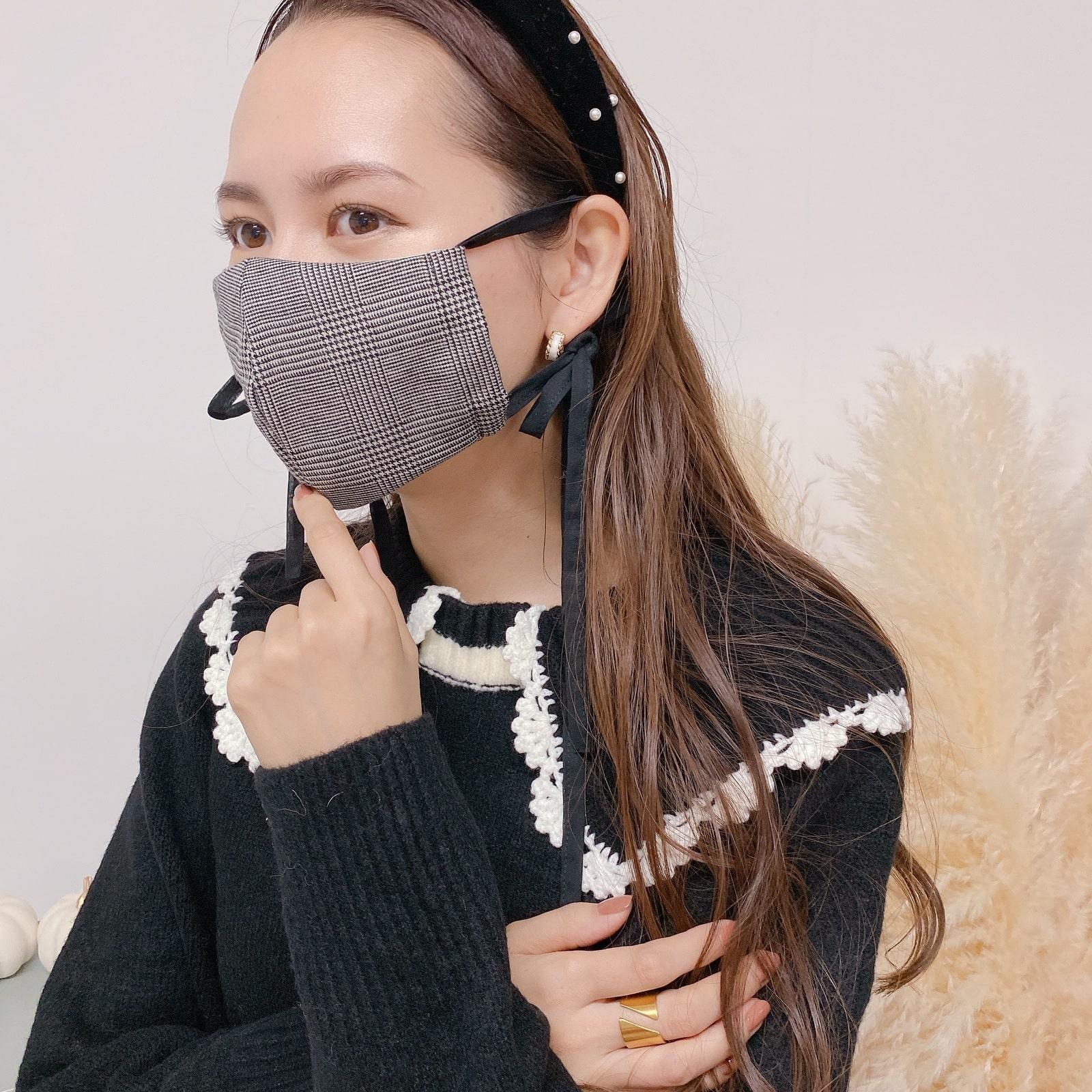 マスク Glen Check Ribbon Mask� 11/12 20:00発売