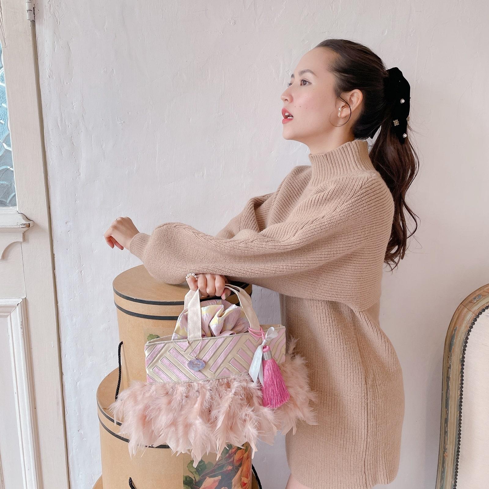 【予約】トート Pinkish Cream