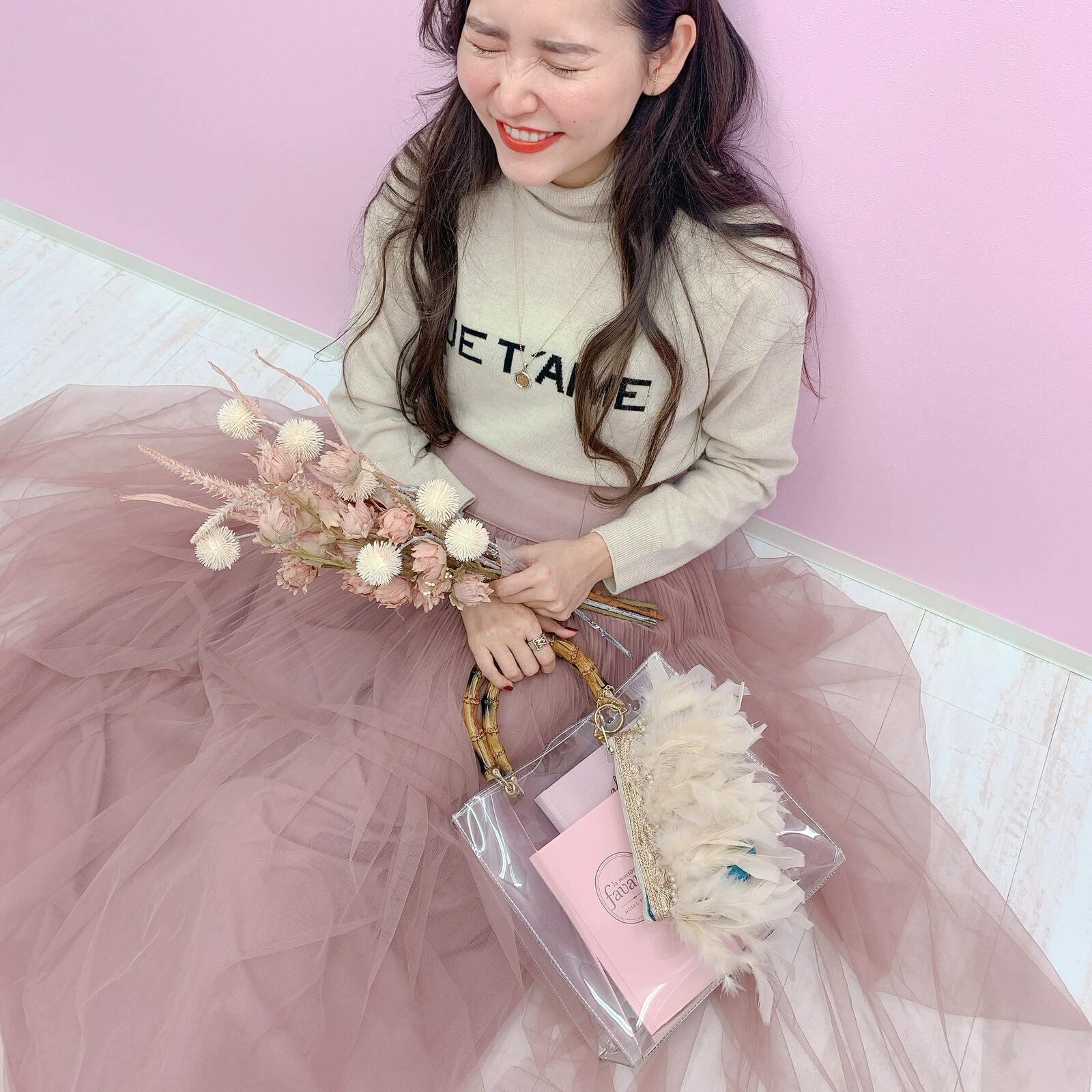 ポーチ&トート Miss Bamboo Crystia Shell