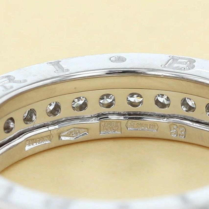 【中古】 BVLGARI (ブルガリ) B-ZERO1 ダイヤモンドリング 750WG XS ブランドジュエリー 指輪 B-ZERO1  AN850656 used:A