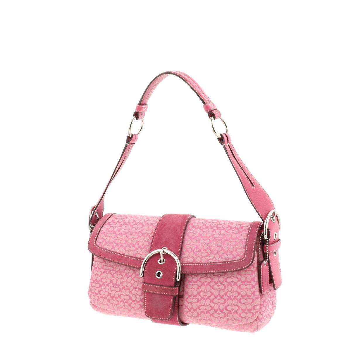 【即日発送・水曜定休日・木曜発送】【中古】【RI】 COACH (コーチ) ショルダーバッグ バッグ ショルダー/メッセンジャーバッグ  Pink/ピンク 1463 used:B