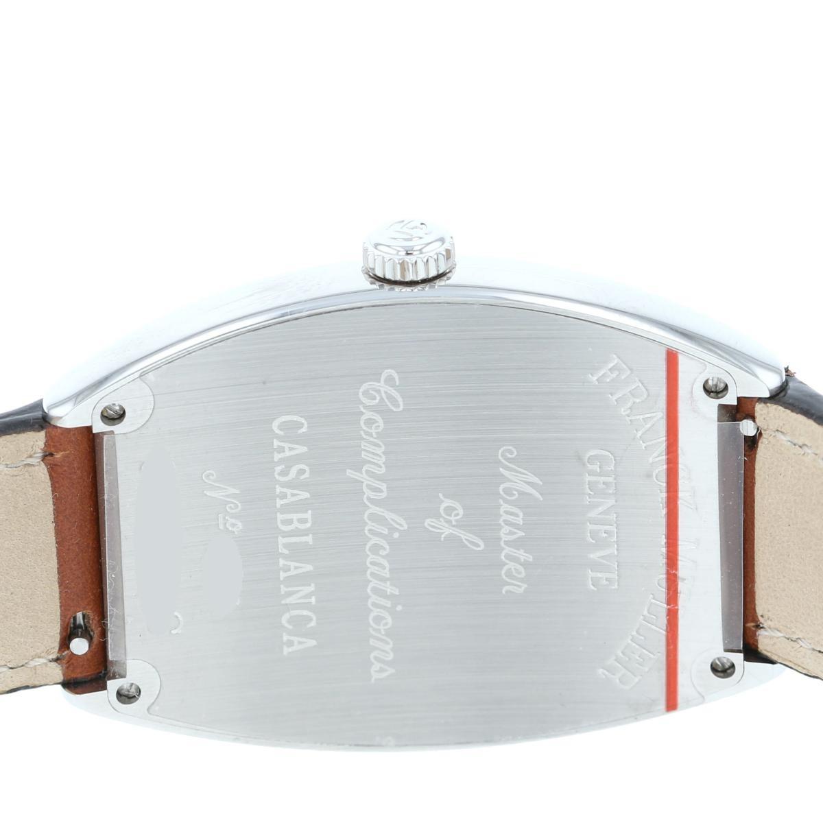 【未使用品】 フランクミュラー カサブランカ メンズ時計 自動巻き FRANCK MULLER CASABLANCA MENS WATCH AT. 6850CASA【中古】 FRANCK MULLER (フランクミュラー) カサブランカ White 時計 自動巻き/メンズ Casablanca ホワイト 6850CASA unused:S