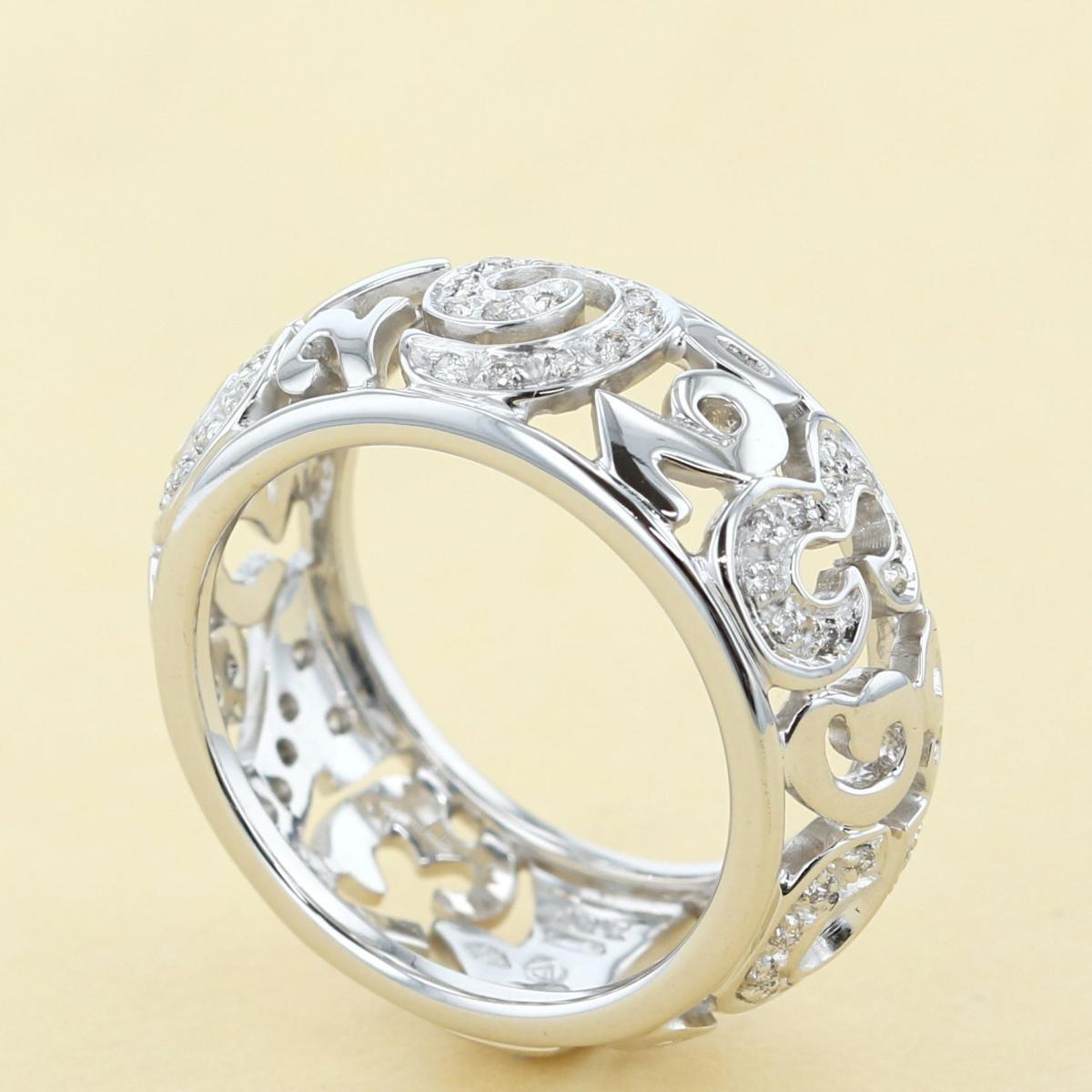 【即日発送・水曜定休日・木曜発送】【美品】【オススメ】【19号】【RI】 FRANCK MULLER (フランクミュラー) ダイヤモンド タリスマン リング 750WG ブランドジュエリー 指輪 Talisman 750WG