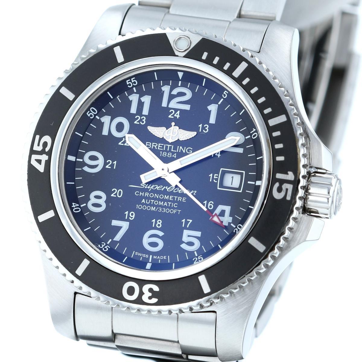 【中古】 BREITLING (ブライトリング) スーパーオーシャン� 44 日本限定 時計 自動巻き/メンズ Super Ocean Black A17392D7/BG84 used:A