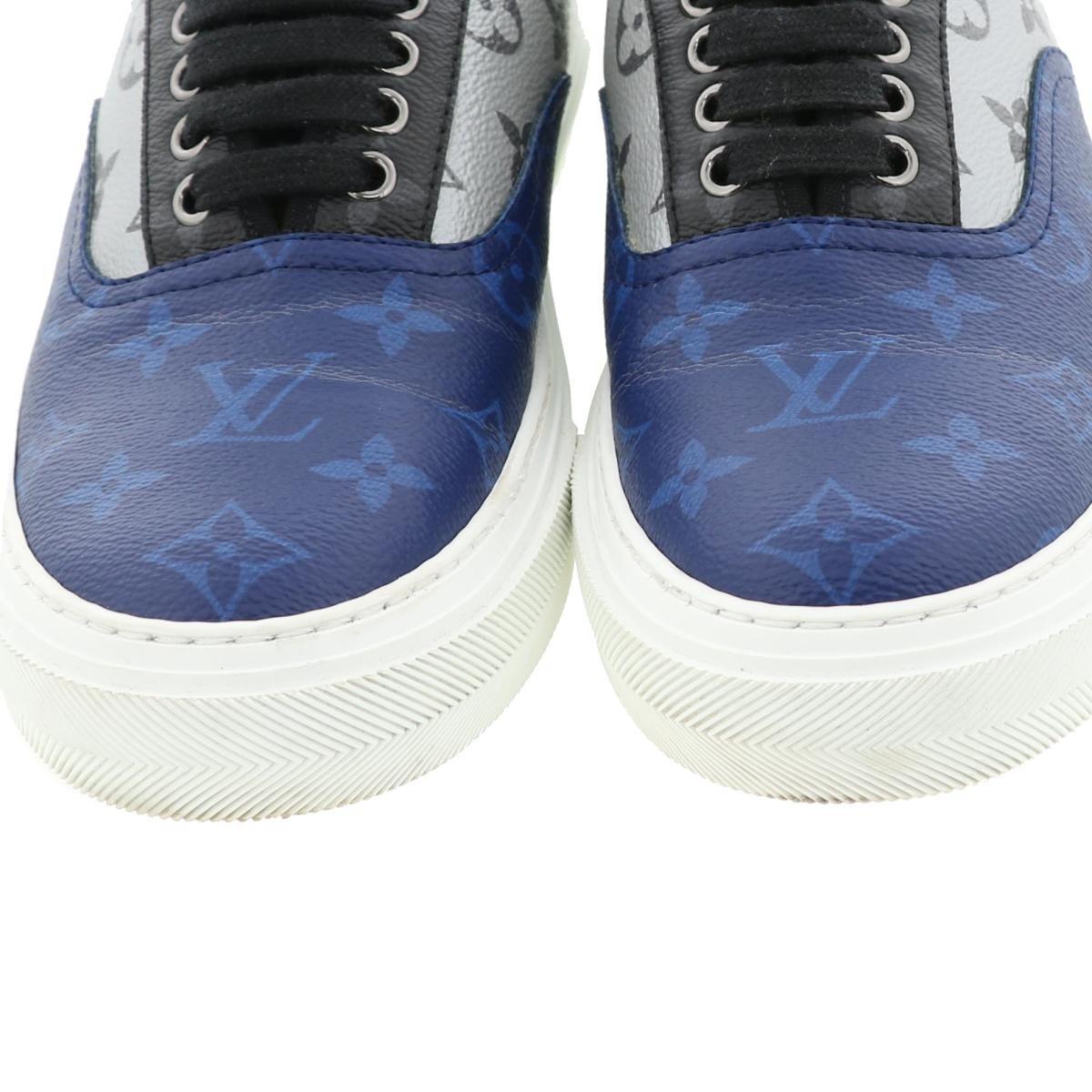 【中古】LOUIS VUITTON (ルイヴィトン) トロカデロ・ライン スニーカー 靴 靴/メンズ Sneaker/18SS Blue/ブルー 1A417 used:A