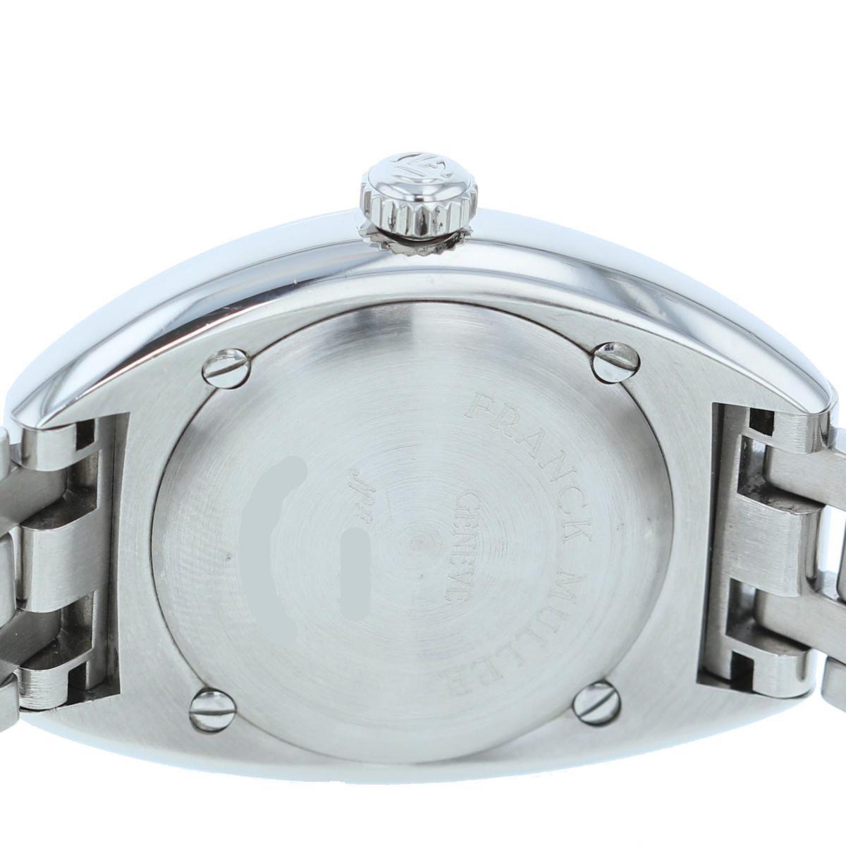 【お値下げ品】【中古】【仕上げ済】 FRANCK MULLER (フランクミュラー) トランスアメリカ 32� Silver 時計 クオーツ/レディース TRANSAMERICA Silver・シルバー 2000L used:A