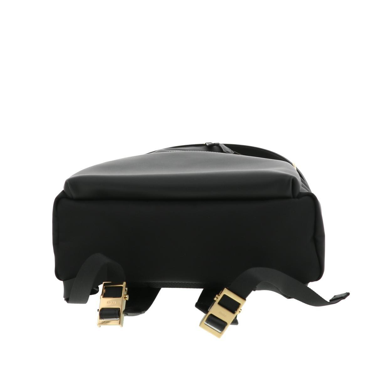 【美品】フェンディ モンスター バックパック ブラック FENDI Monster Backpack Black 7VZ042