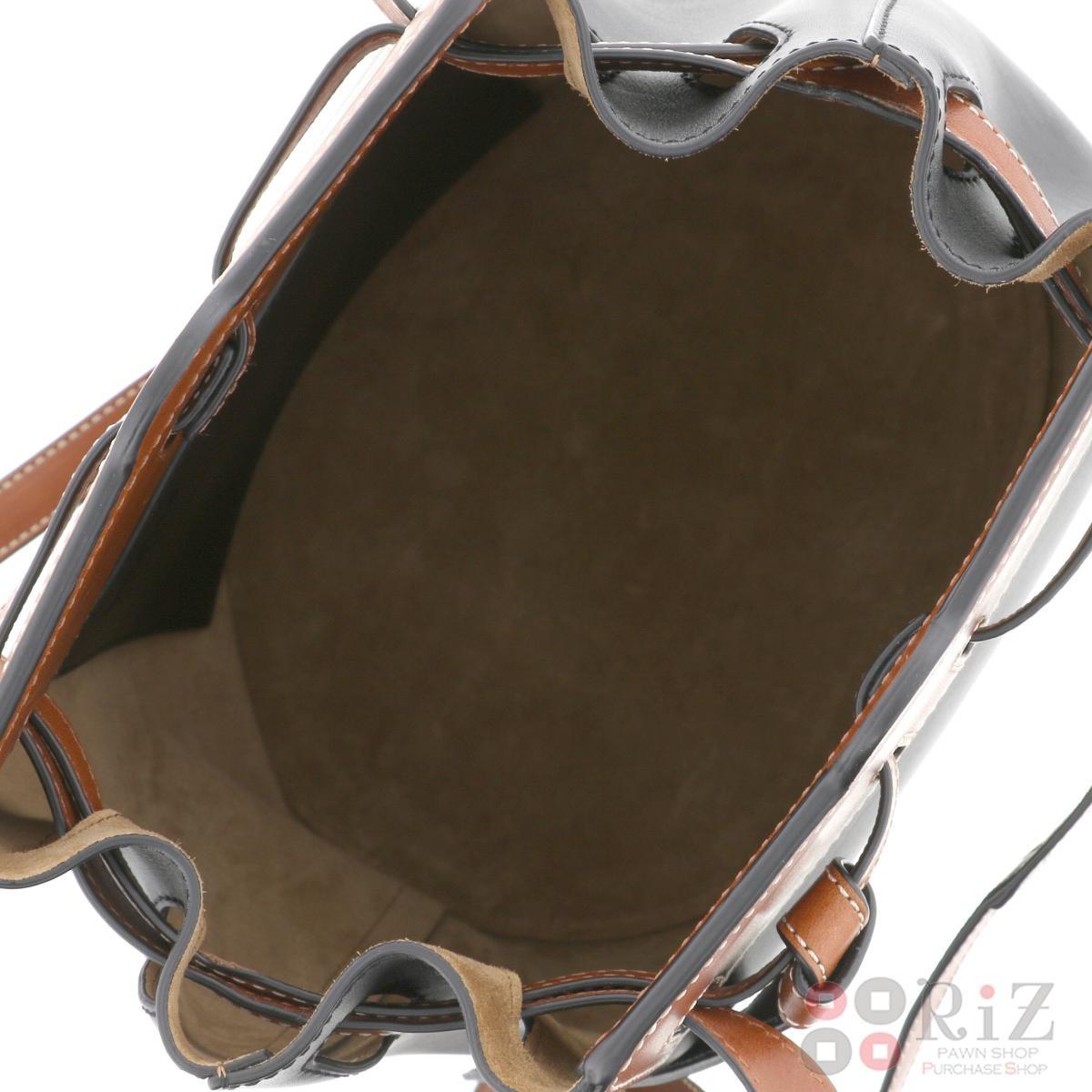【お値下げ品】【中古】【巾着】 LOEWE (ロエベ) ラゾバケット バッグ トートバッグ Lazo Black/ブラック 329.56.Z21 used:A