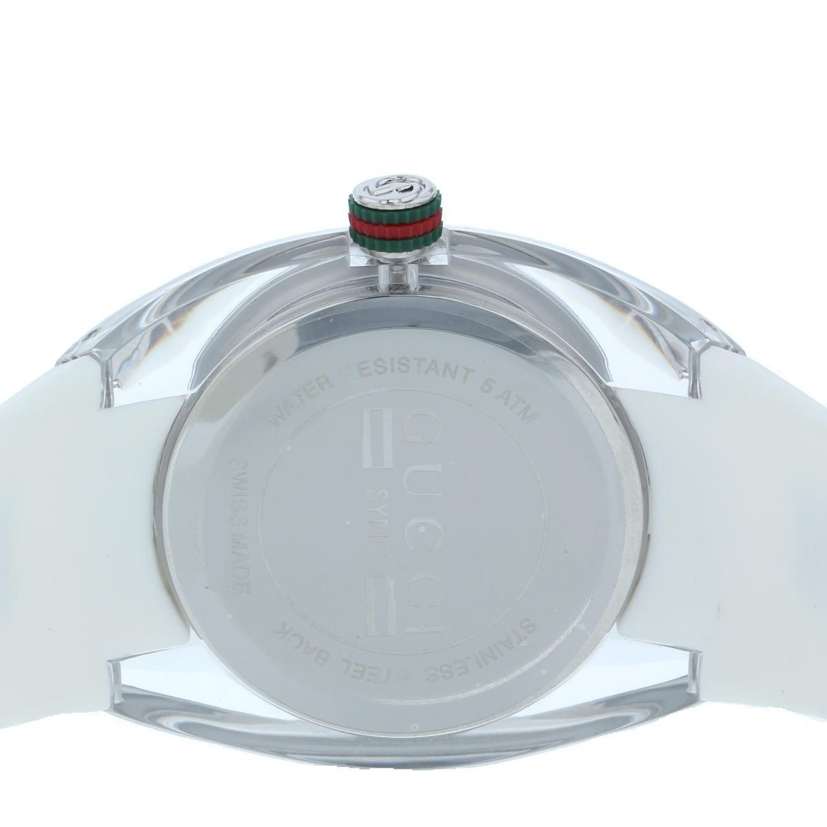 【中古】 GUCCI (グッチ) SYNC シンク XXL 46� 時計 クオーツ/メンズ SYNC Silver 137.1/YA137102 used:A