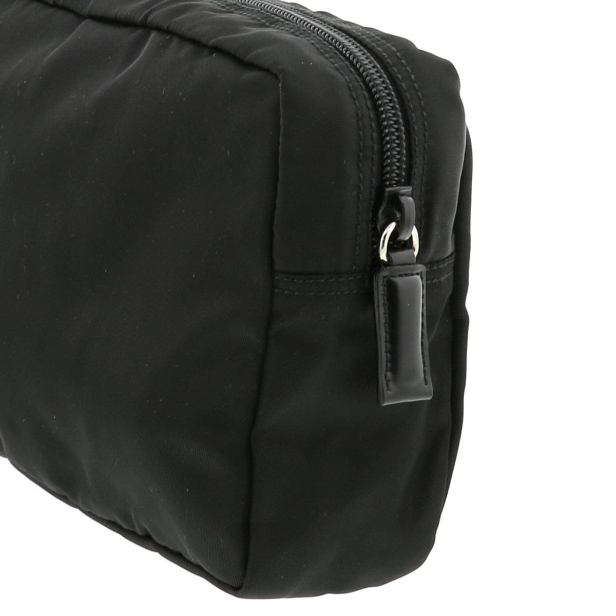 【美品】プラダ ナイロン ミニポーチ ブラック PRADA Nylon Pouch Black 2TT072