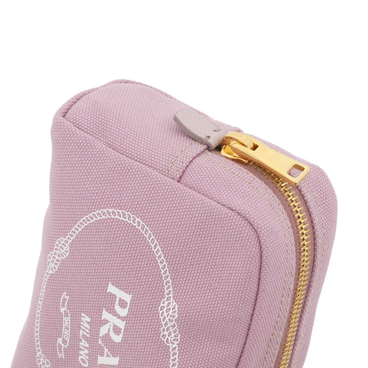 【お値下げ品】【中古】 PRADA (プラダ) カナパロゴ コスメポーチ バッグ セカンドバッグ/ポーチ/クラッチ  Pink 1NA021 used:A