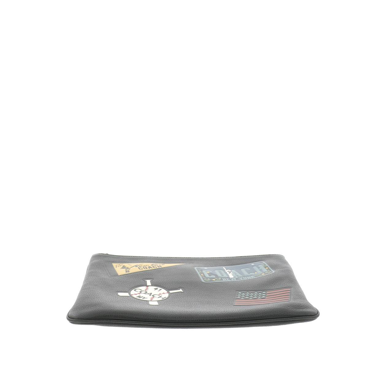 【中古】COACH コーチ クラッチバッグ バッグ セカンドバッグ/ポーチ/クラッチ  Black/ブラック NY F26089 used:B