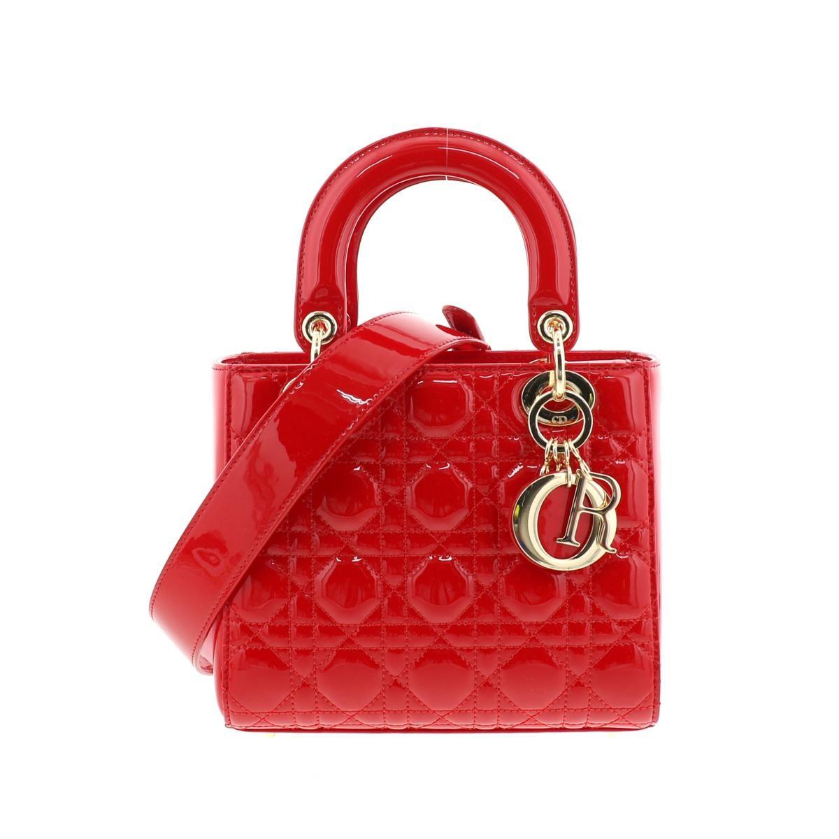 即日発送・水曜定休日・木曜発送 極上品 RI Christian Dior クリスチャンディオール  ショルダーバッグ M0531O レッド  レディディオール