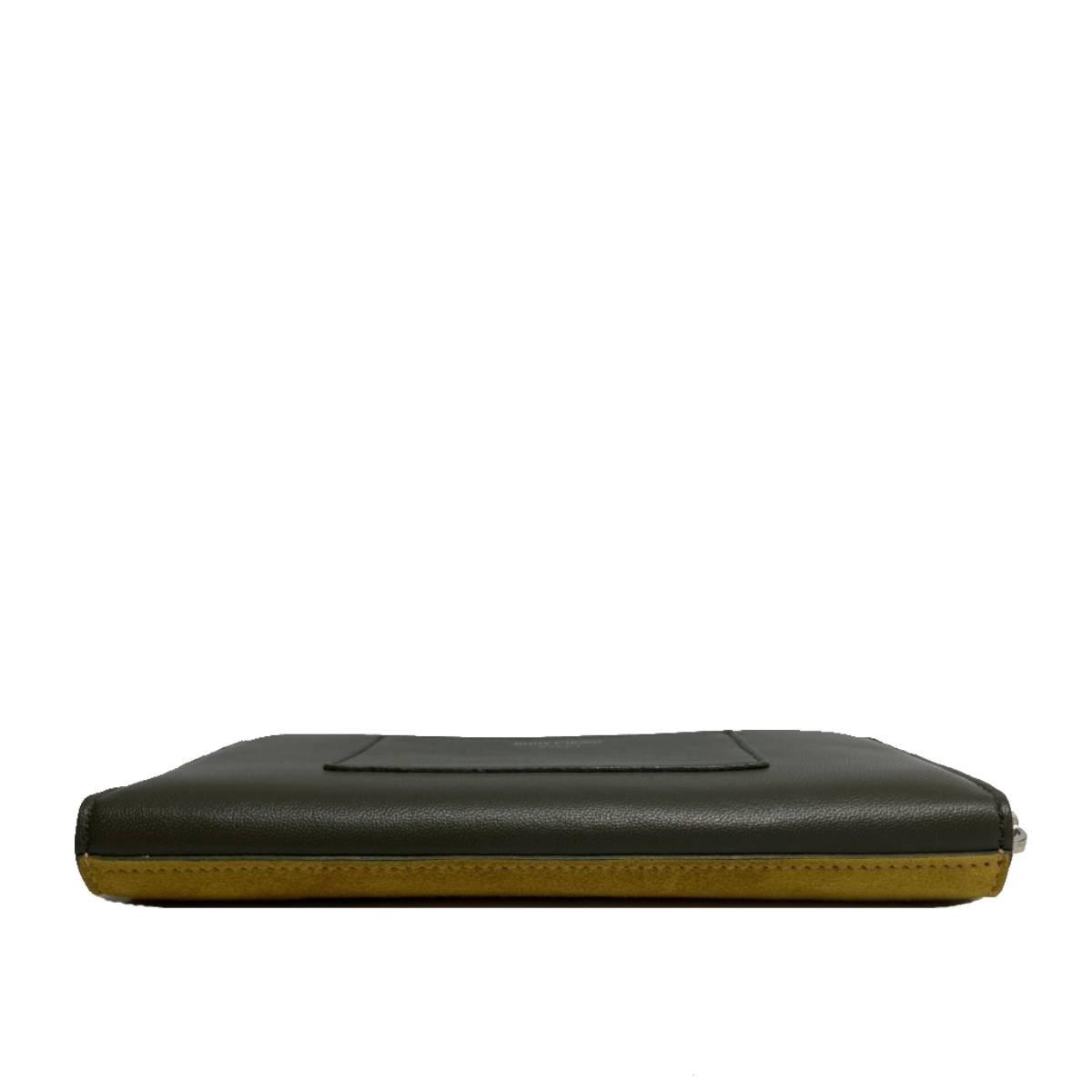 【SALE】【中古】 JIMMY CHOO ジミーチュー MILLY NSU ラウンドファスナー長財布 財布 長財布(小銭入有) MILLY Khaki/カーキ イエロー レザー スエード 0C2851 used:A