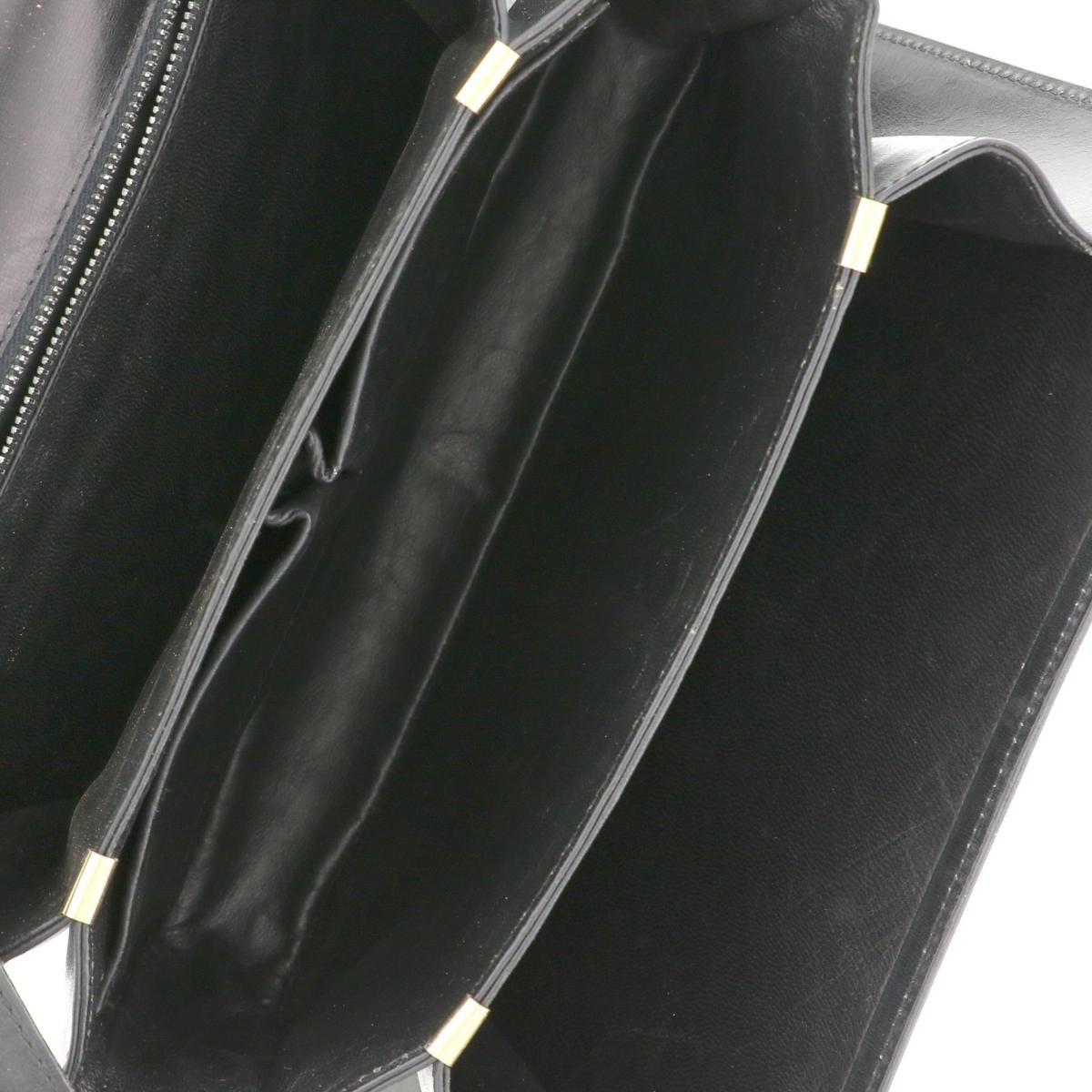 【中古】CELINE セリーヌ 馬車金具 ショルダーバッグ バッグ ショルダー/メッセンジャーバッグ Shoulder Bag Black/ブラック ヴィンテージ オールドセリーヌ used:B