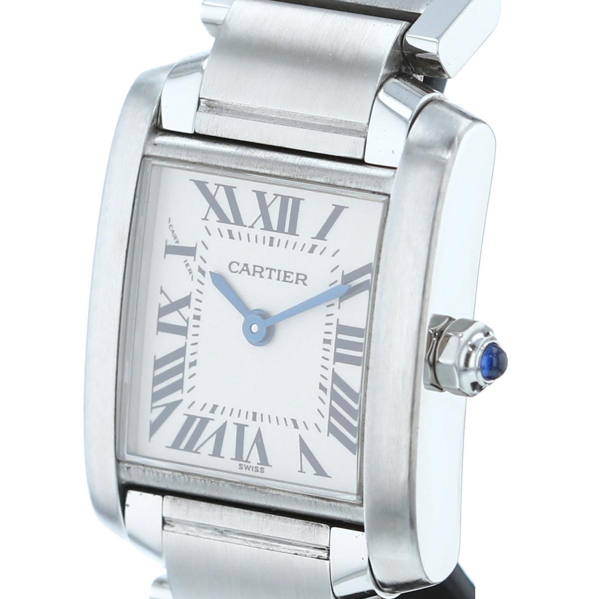 【中古】Cartier カルティエ タンクフランセーズSM 時計 Tank Francaise White/ホワイト W51008Q3 used:A