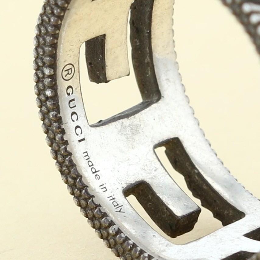 【即日発送・水曜定休日・木曜発送】【中古】【21号】【RI】 GUCCI (グッチ) スクエアG シルバー リング ブランドジュエリー 指輪 Silver Silver/シルバー ?551918 used:B