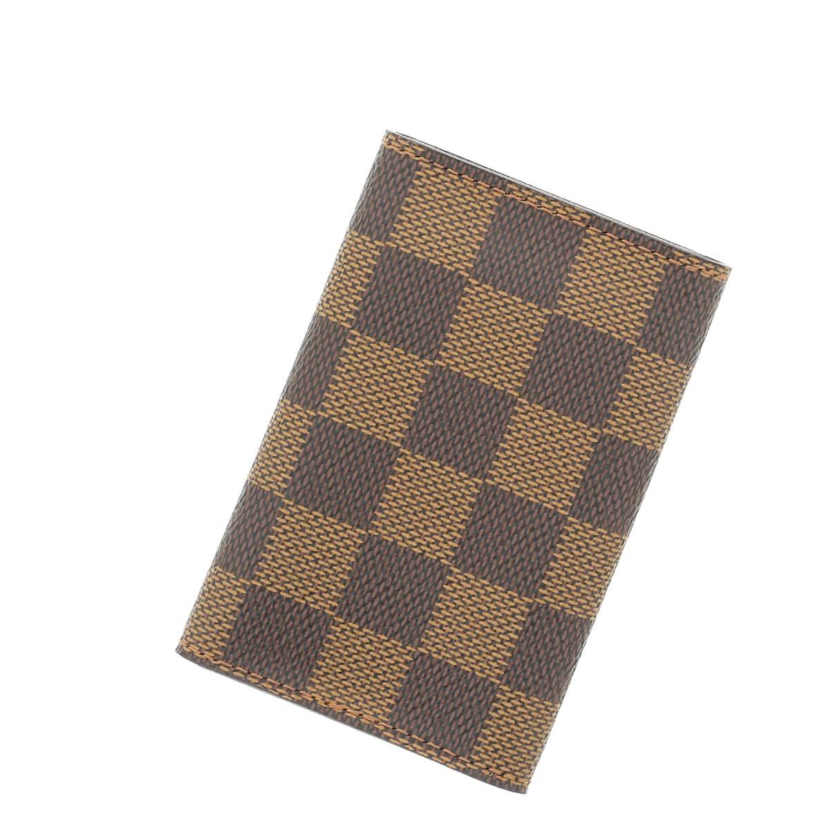 【中古】LOUIS VUITTON (ルイヴィトン) ミュルティクレ6 小物 キーケース Damier/Ebene Brown/ブラウン N62630 used:A