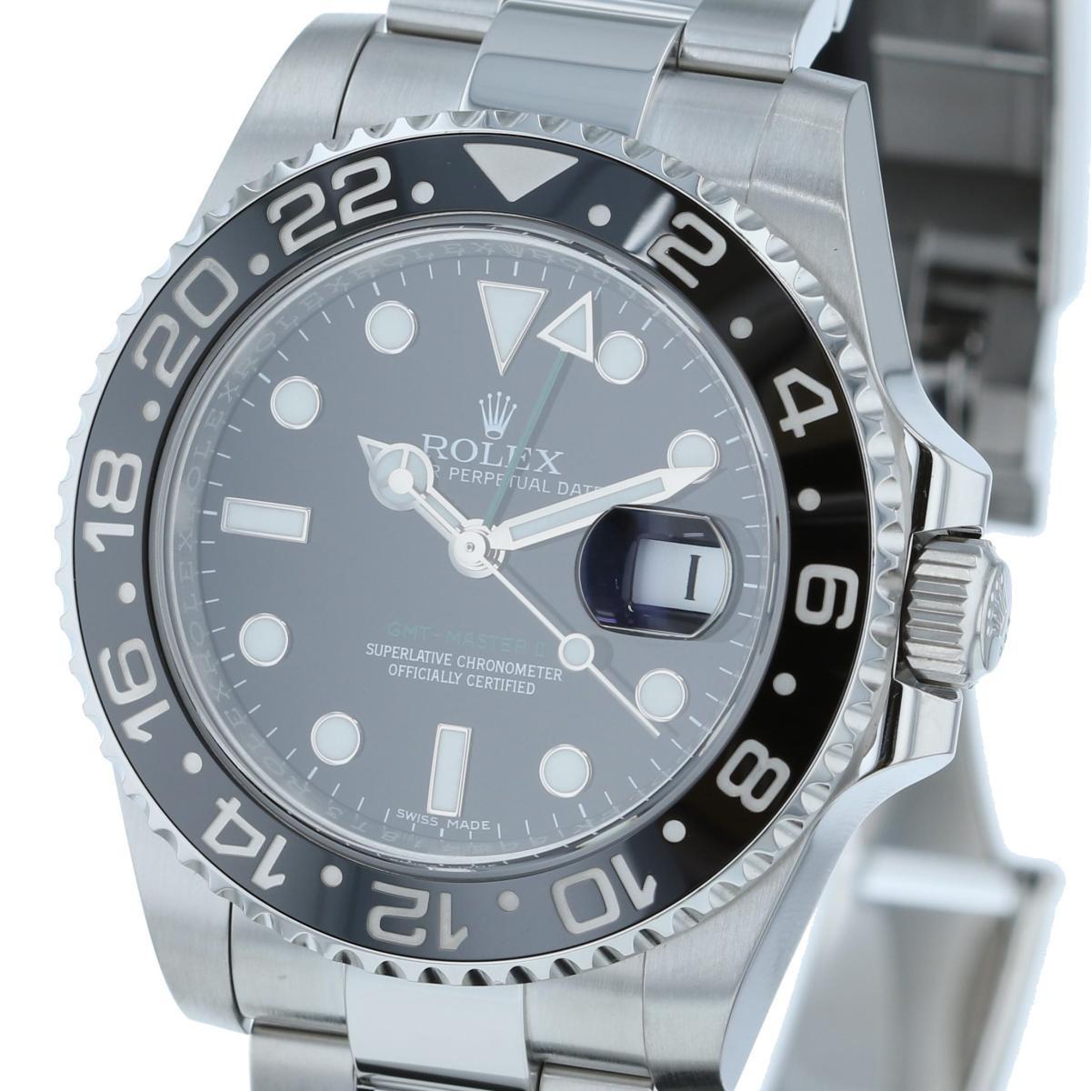 【中古】 ROLEX (ロレックス) GMTマスター� 時計 自動巻き/メンズ GMT MASTER II Black 116710LN used:A