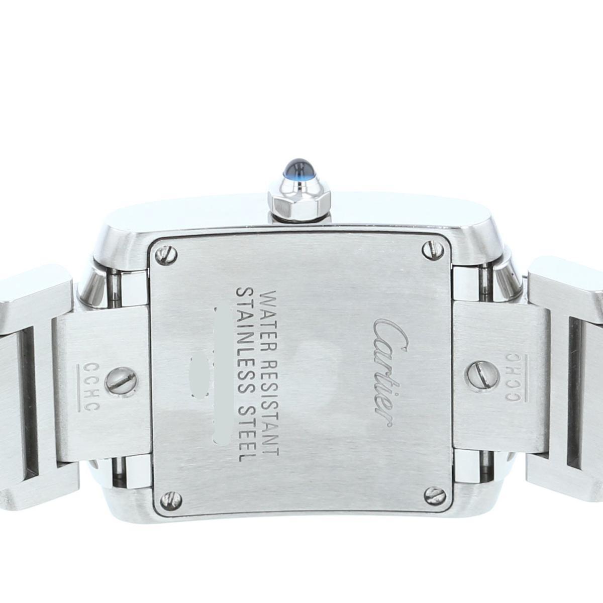 【中古】Cartier カルティエ タンクフランセーズSM 時計 クオーツ/レディース 電池 Tank Francaise White/ホワイト W51008Q3 used:A
