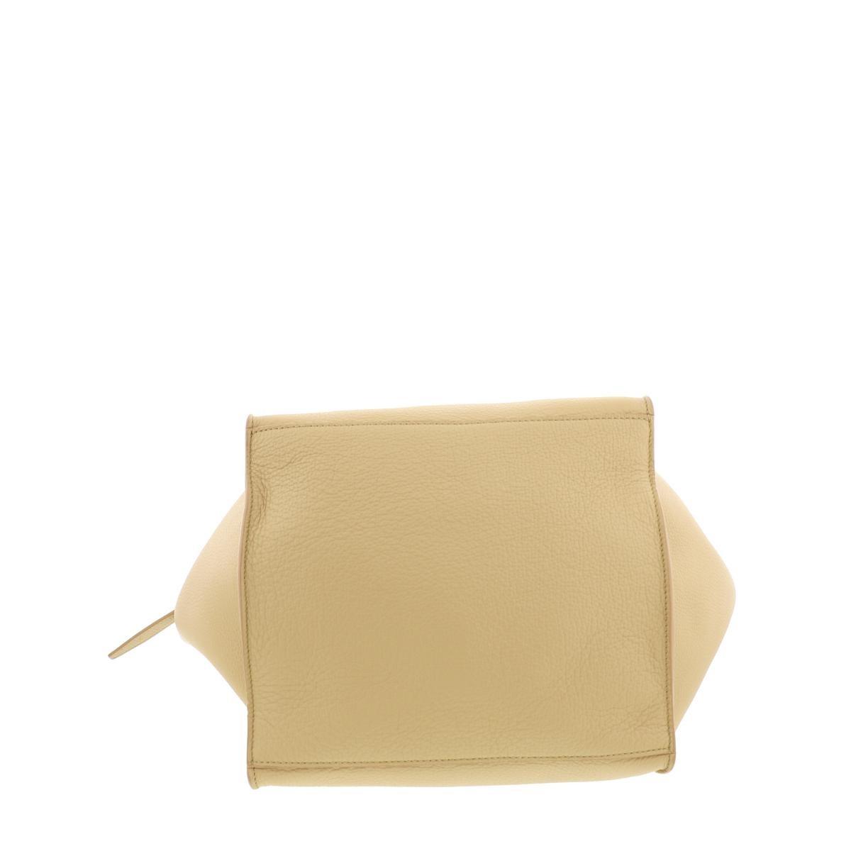 【最終値下げ品】【即日発送・水曜定休日・木曜発送】【美品】CELINE (セリーヌ) ビッグバッグ スモール バッグ ハンドバッグ Big bag Beige/ベージュ 189313A4U used:A