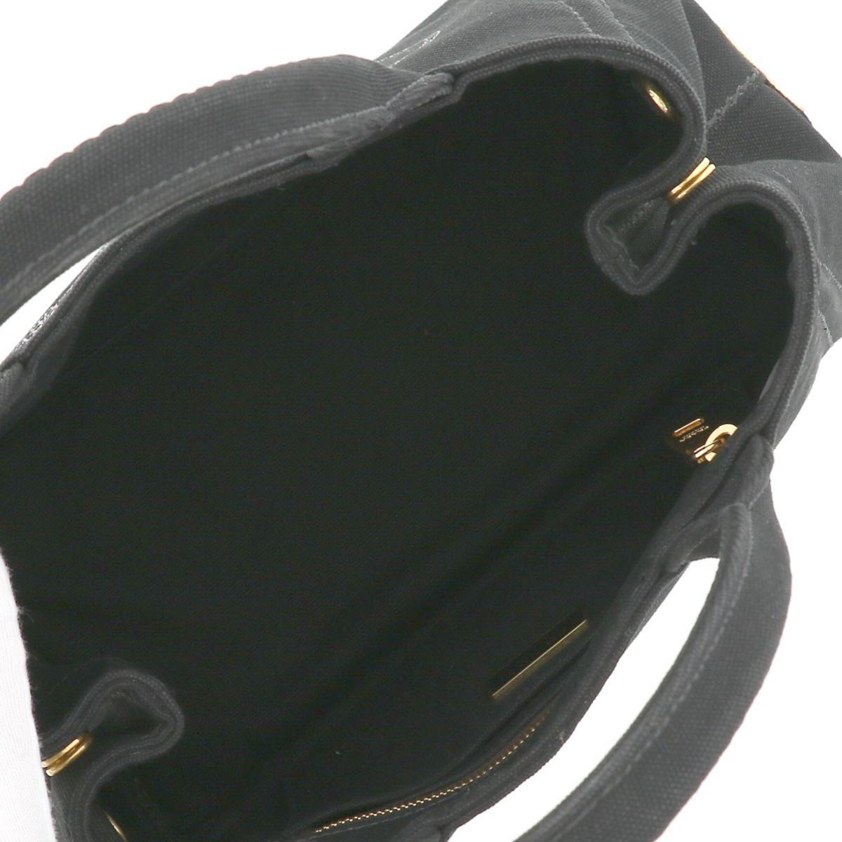 【中古】PRADA プラダ カナパ ミニ 2WAY バッグ バッグ ショルダーバッグ/ハンドバッグ CANAPA Black/ブラック 1BG439 used:Back/ブラック 1BG439 used:B
