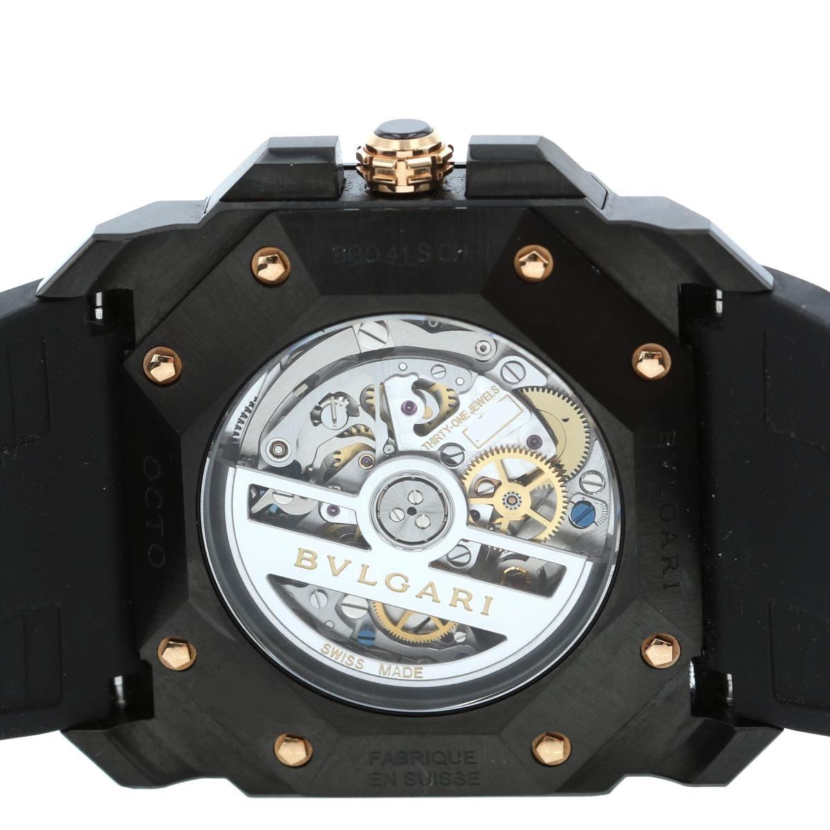 【即日発送・水曜翌日発送】【中古】 BVLGARI (ブルガリ) オクト ウルトラネロ クロノグラフ 時計 自動巻き/メンズ OCTO/オクト Black/ブラック BGO41BBSVDCH used:B