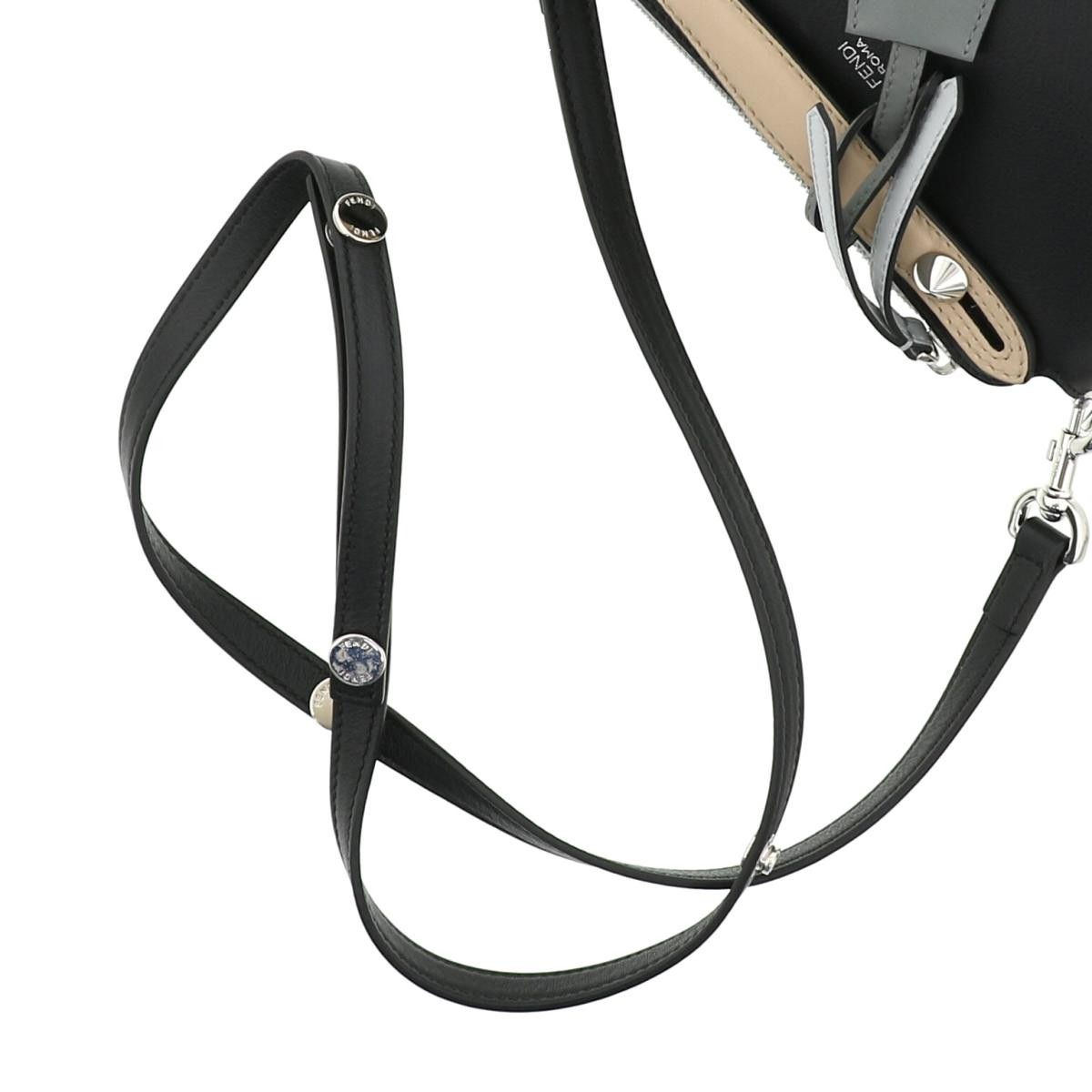 【美品】FENDI フェンディ バイザウェイ ミニ 2WAY ハンドバッグ ストラップ付 8BL135