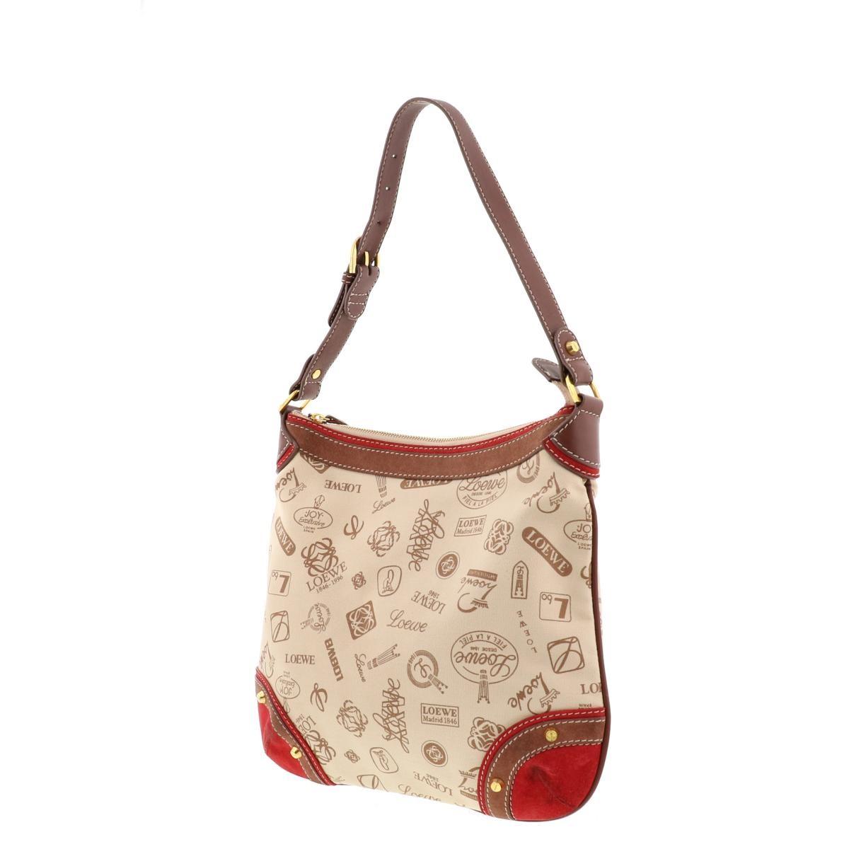 【中古】 LOEWE (ロエベ) ワンショルダーバッグ 160周年 バッグ ショルダー/メッセンジャーバッグ Shoulder Bag レッド