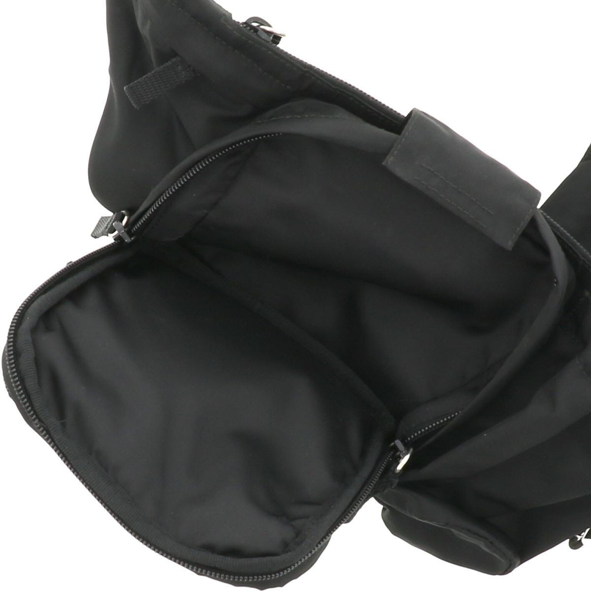 【即日発送・水曜定休日・木曜発送】【中古】【ユニセックス】【RI】 PRADA (プラダ) テスート モンタナ ウエストバッグ バッグ ウェスト/ボディバッグ  Black/ブラック VA0056 used:B