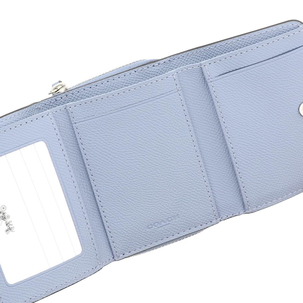 【中古】 COACH (コーチ) 三つ折り財布 財布 三つ折り財布(小銭入有)  Blue F37968 used:A