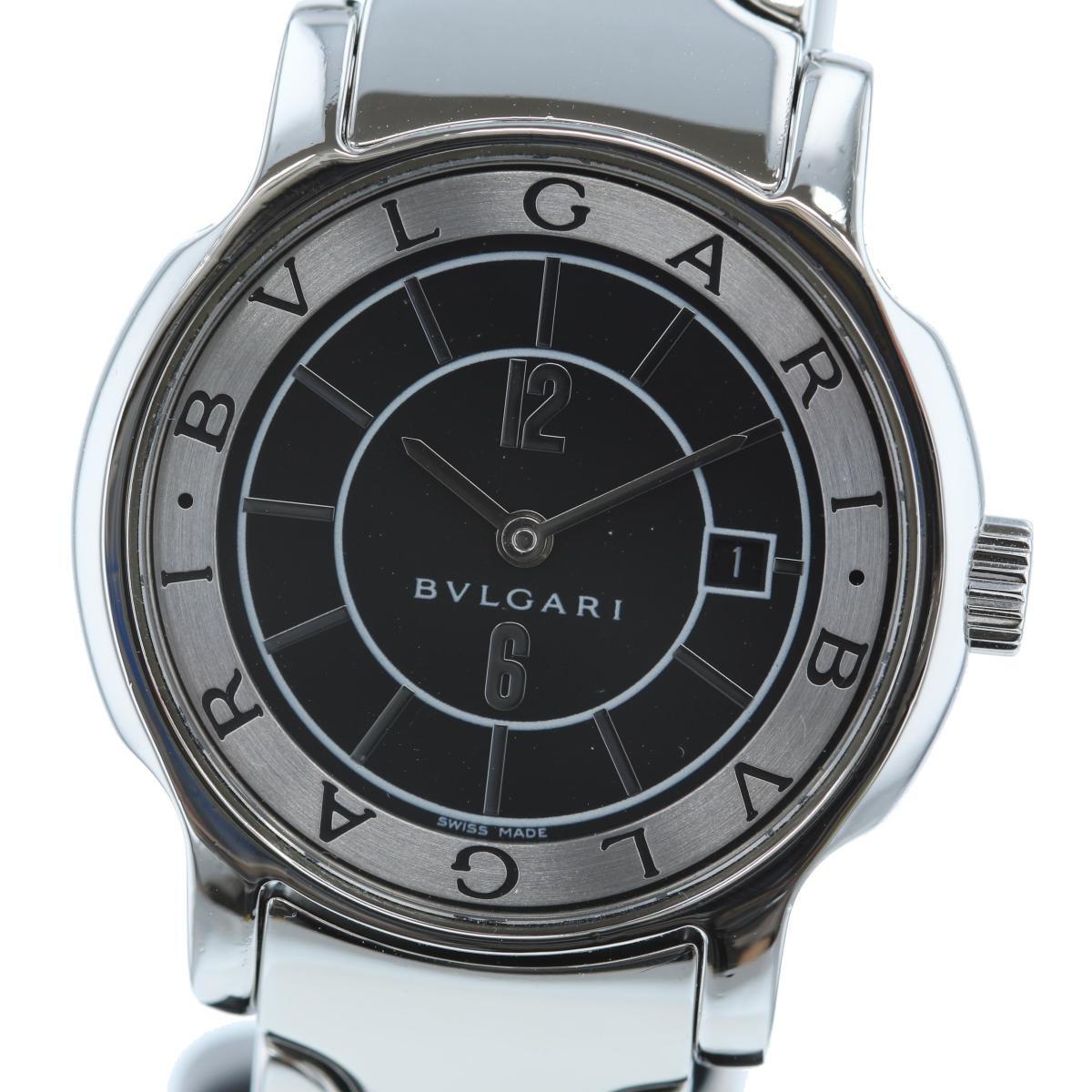 【お値下げ品】【中古】 BVLGARI (ブルガリ) ソロテンポ Black 29� 時計 クオーツ/レディース ソロテンポ Black/ブラック ST29S used:A