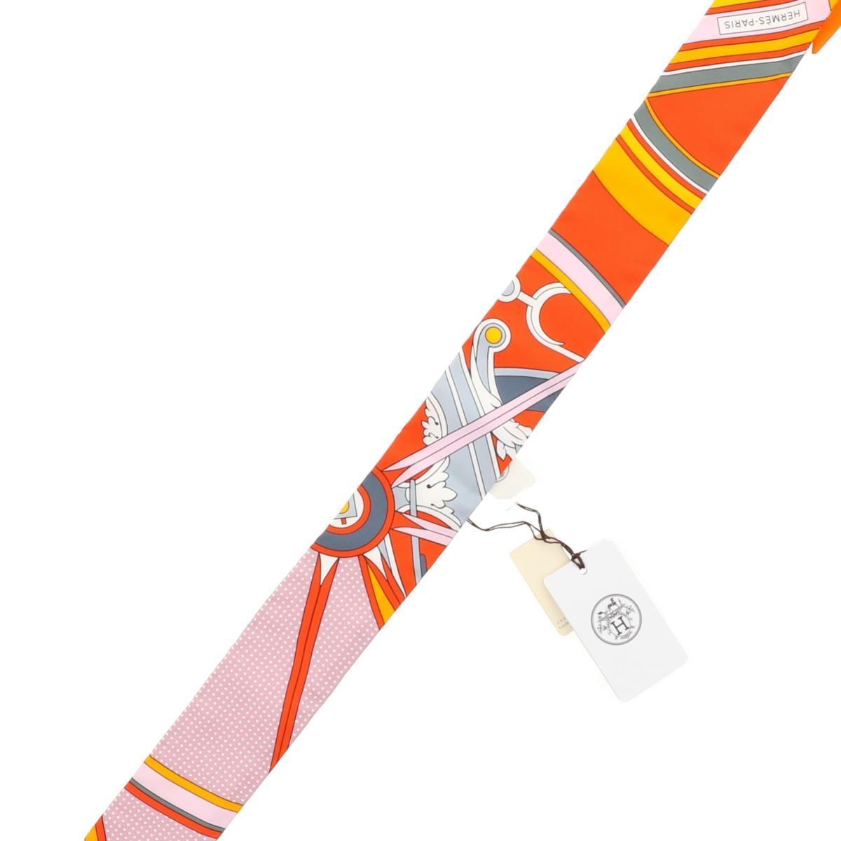 【即日発送・水曜定休日・木曜発送】【極上品】【中古】【RI】 HERMES (エルメス) ツイリースカーフ 服飾 マフラー/スカーフ/ネクタイ Scarf Orange/オレンジ
