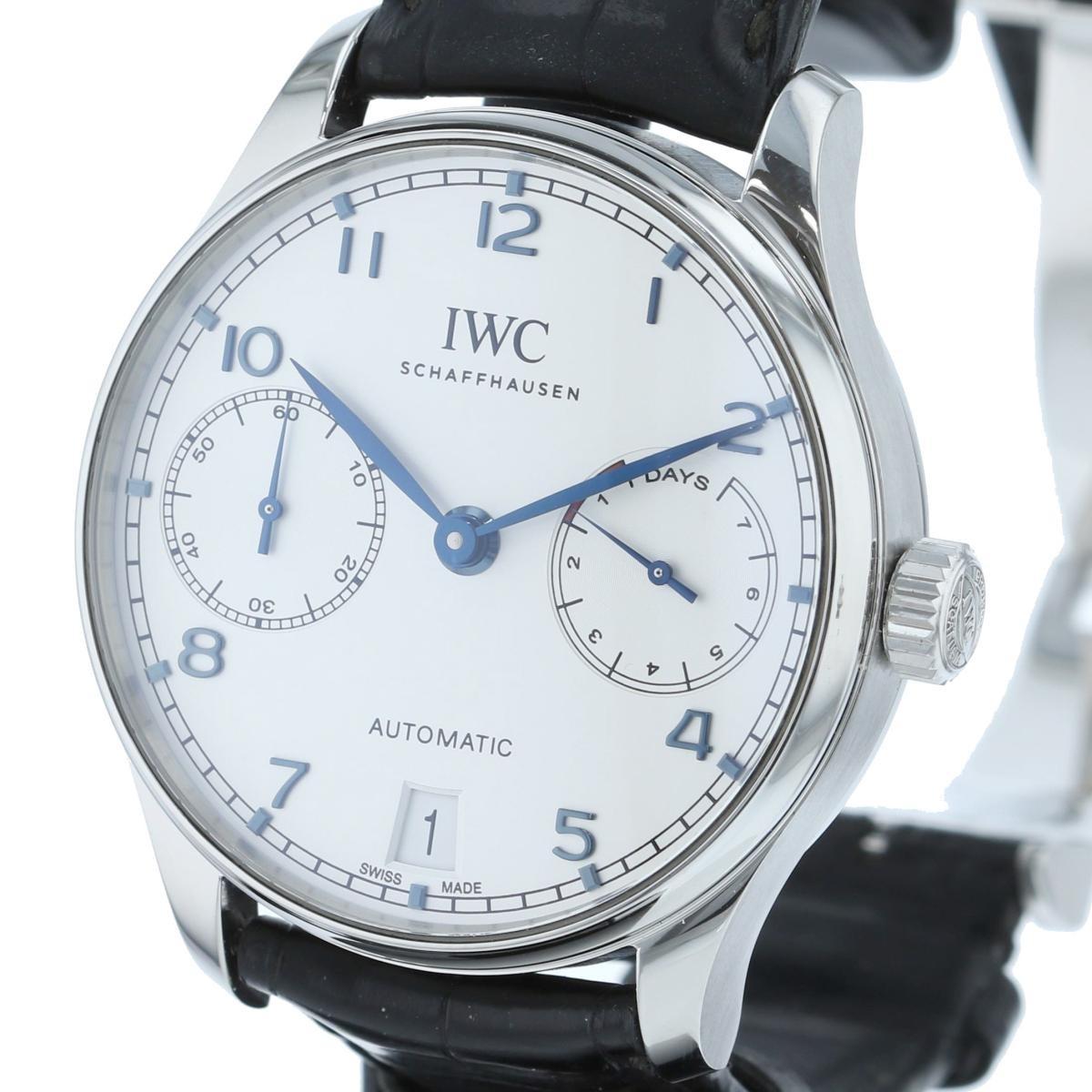 【中古】 IWC (アイダブルシー) ポルトギーゼ オートマティック 7DAYS 時計 自動巻き/メンズ portugieser White IW500705 used:A