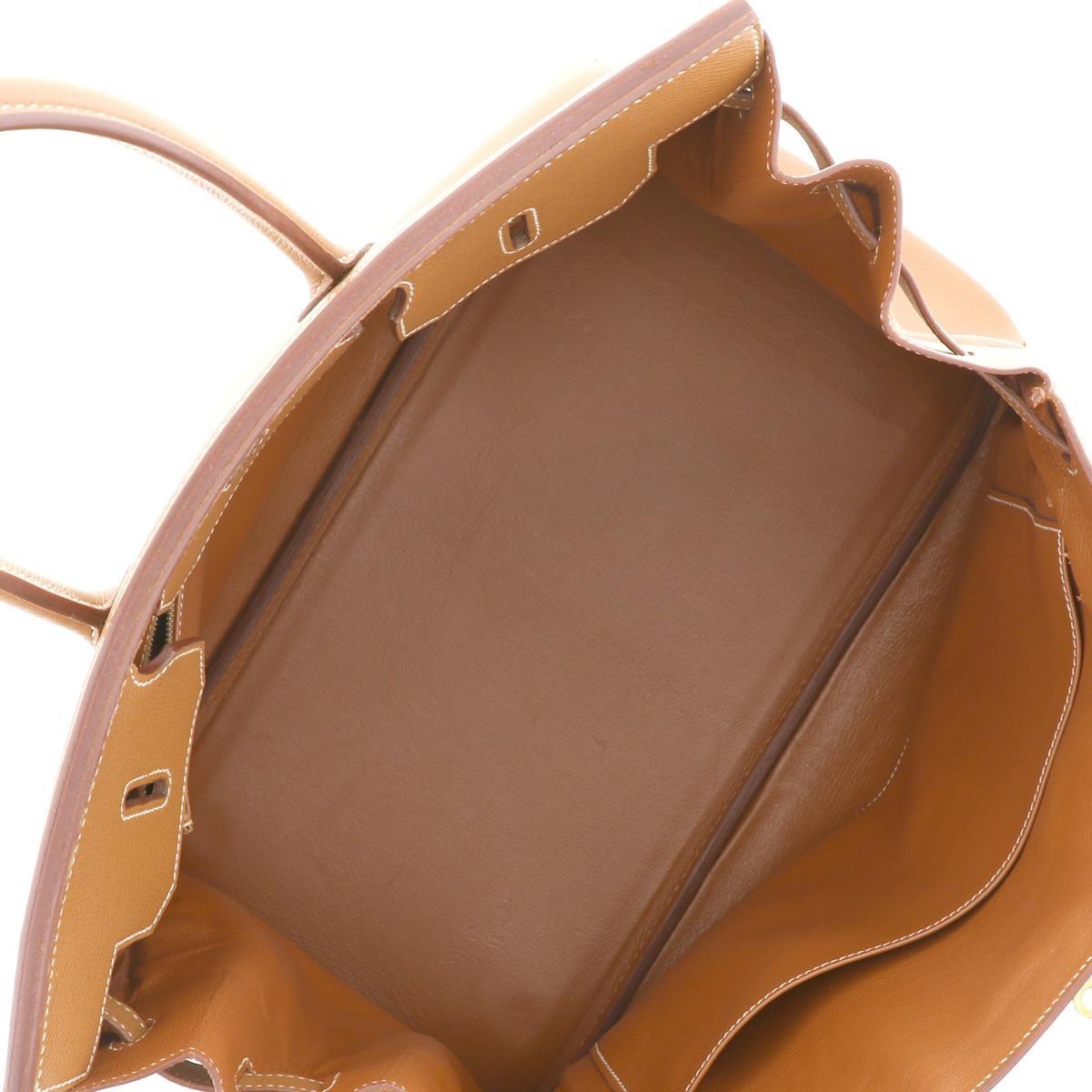 【中古】 HERMES (エルメス) バーキン35 バッグ ハンドバッグ  Brown