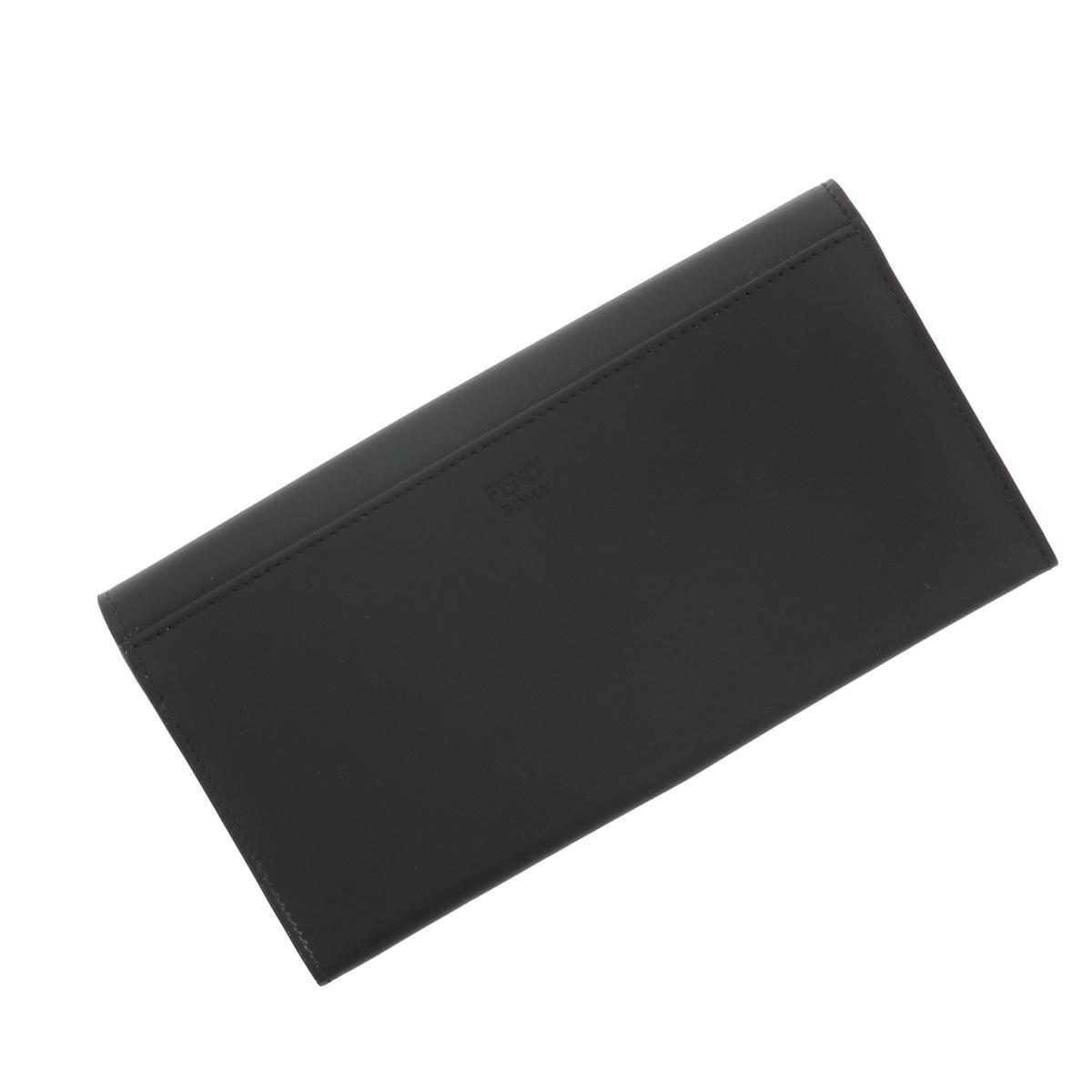【美品】【中古】FENDI フェンディ モンスター 二つ折り長財布 財布 長財布(小銭入有)  Black/ブラック イエロー 7M0264 bnwt:N