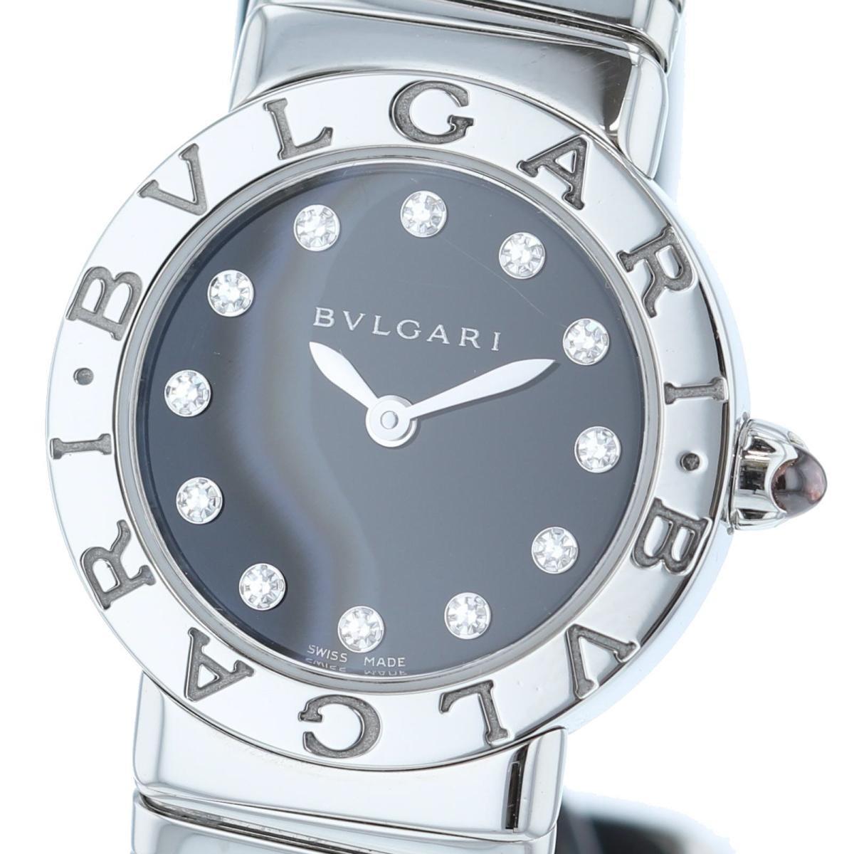 【お値下げ品】【中古】 BVLGARI (ブルガリ) トゥボガス 12P 26� 時計 クオーツ/レディース BVLGARI BVLGARI Black/ブラック BBL26 2TS used:A