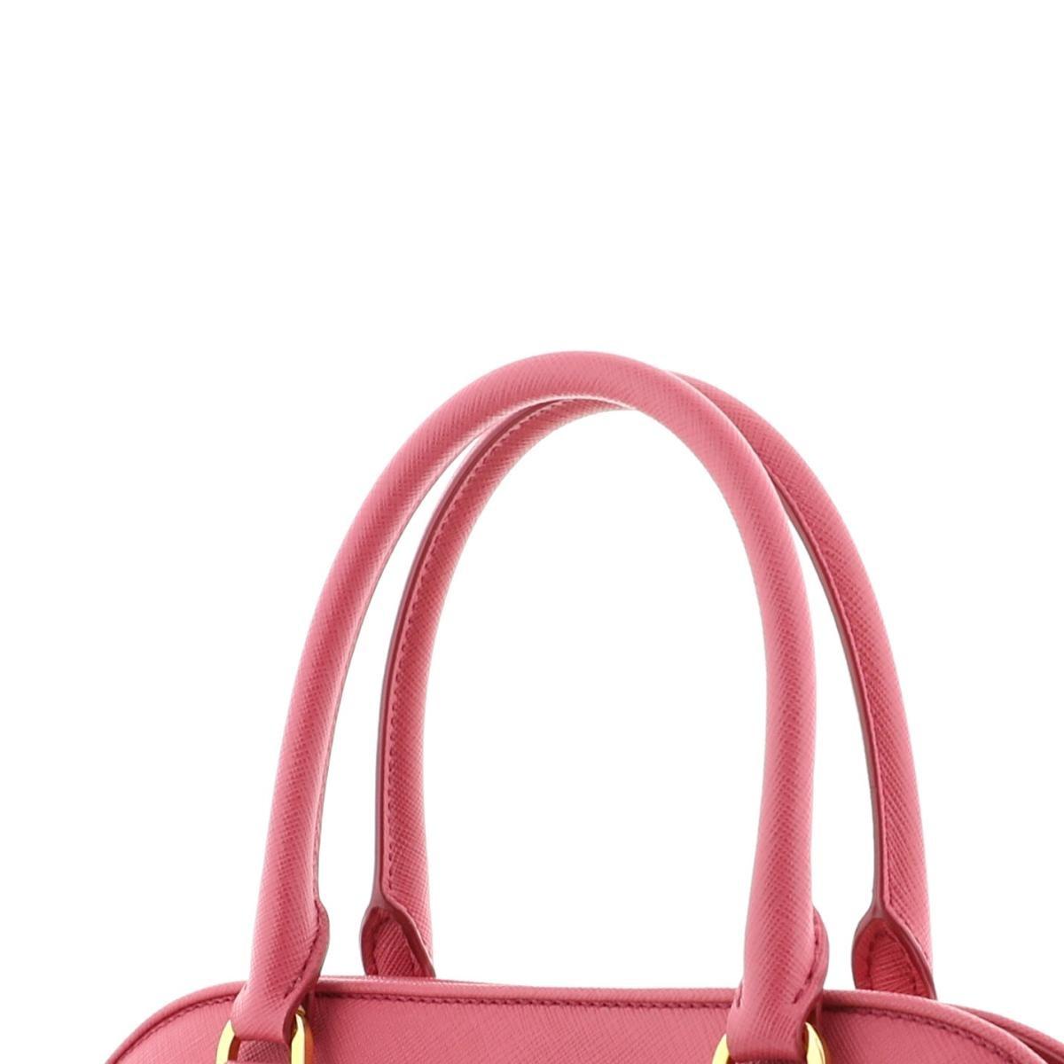 【即日発送・水曜定休日・木曜発送】【極上品】【オススメ】【RI】 PRADA (プラダ) サフィアーノ 2Way ハンドバッグ バッグ ハンドバッグ サフィアーノ Pink/ピンク BN2567 unused:S