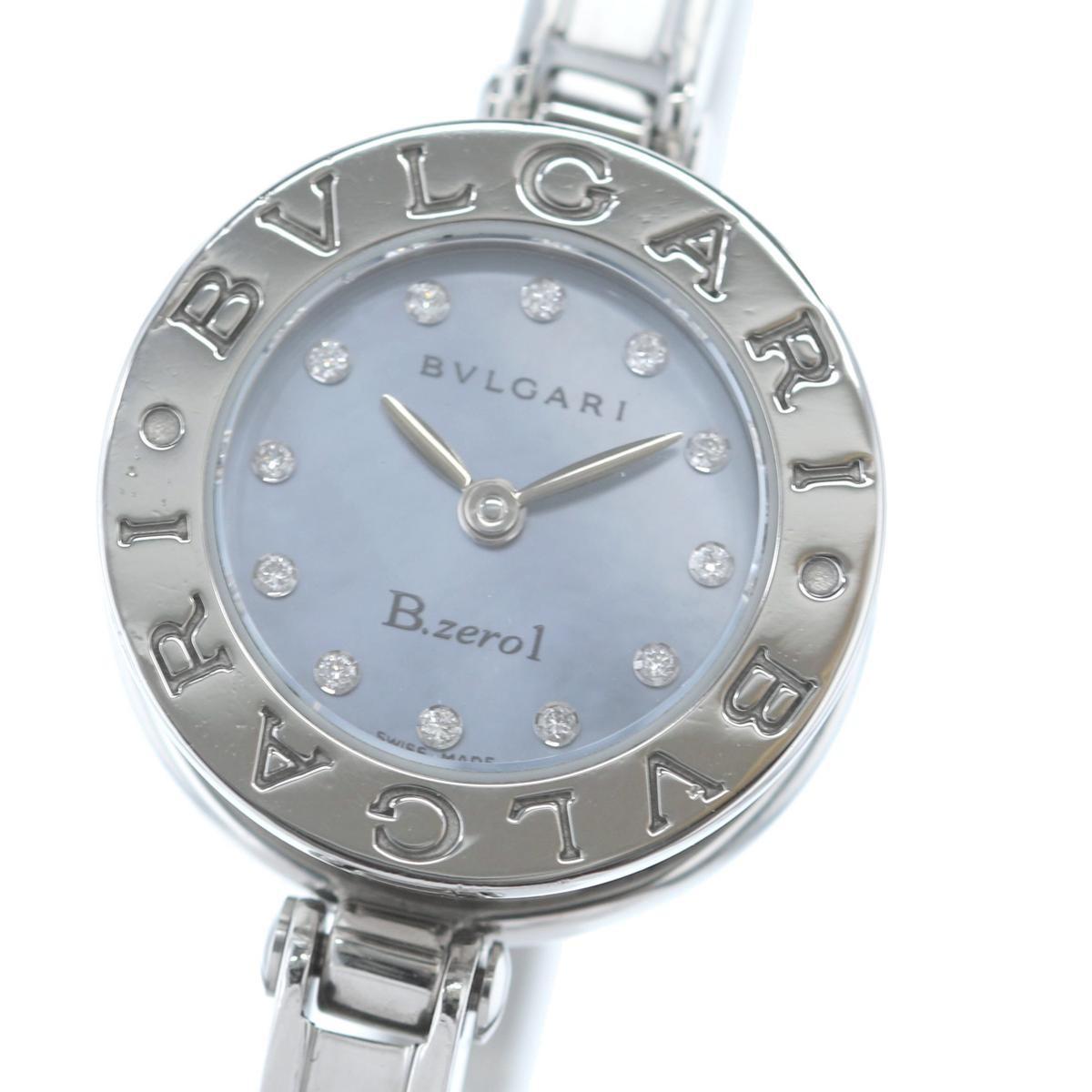 【お値下げ品】【中古】 BVLGARI (ブルガリ) B-ZERO MOP ダイヤモンド 時計 クオーツ/レディース B-zero MOP/ブルーシェル BZ22S used:A