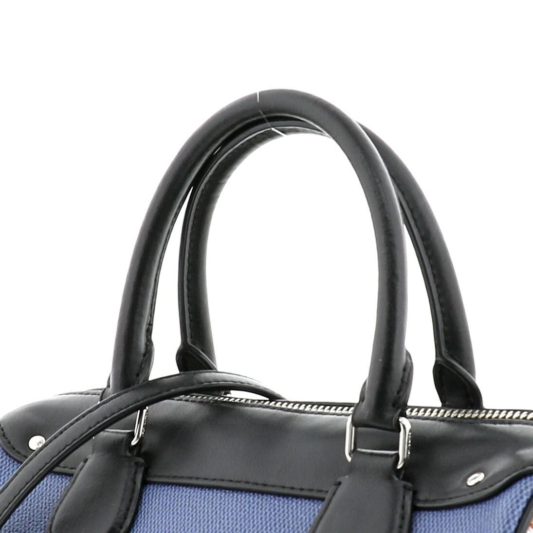 【中古】COACH コーチ ミニベネット サッチェル 2way ミニボストンバッグ バッグ ボストンバッグ  Blue/ブルー 花柄 F57533 used:A