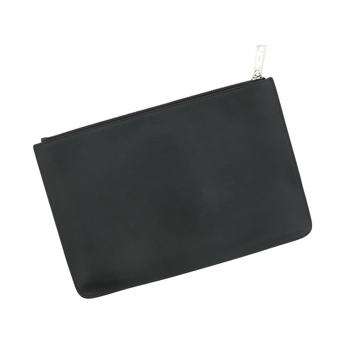 【中古】FENDI フェンディ クラッチバッグ バッグ セカンドバッグ/ポーチ/クラッチ  Black/ブラック 7N0078 used:B