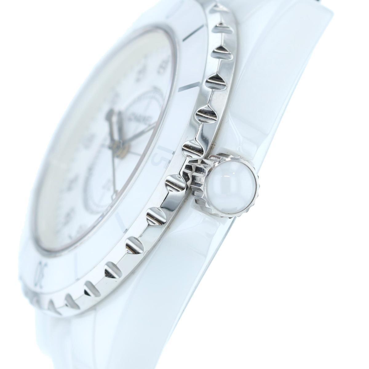 【中古】 CHANEL シャネル J12 33� 12Pダイヤモンド 時計 クオーツ/メンズ J12/White ホワイト H1628 セラミック used:B