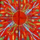 【中古】CELINE セリーヌ スカーフ 服飾 マフラー/スカーフ/ネクタイ シルク  Red/レッド ネイビー タッセル チャーム ストラップ  used:B