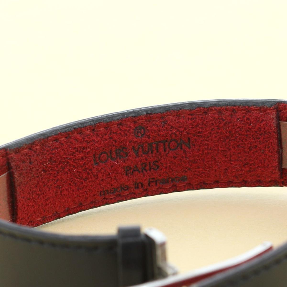 【中古】LOUIS VUITTON ルイヴィトン グッドラック・ブレス ブランドジュエリー ブレスレット/バングル/アンクレット  Black/ブラック M64447 used:B