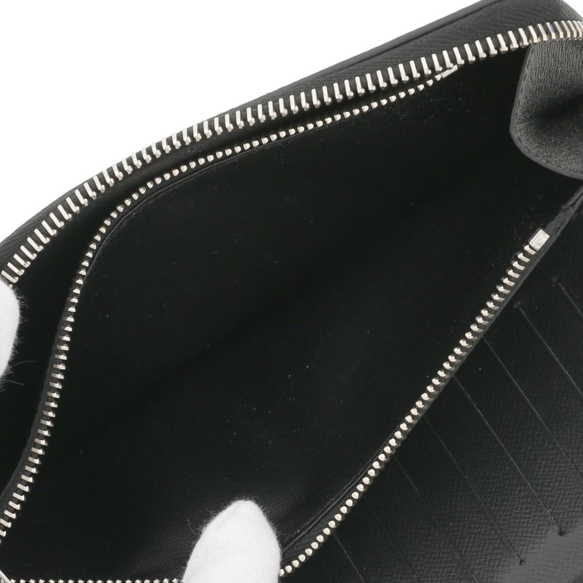 【中古】LOUIS VUITTON (ルイヴィトン) ジッピーウォレット・ヴェルティカル 財布 長財布(小銭入有) Taiga/タイガ Black M30503 used:B