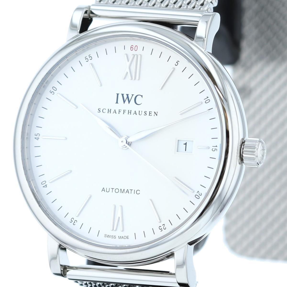 最終処分SALE 早い者勝ち【即日発送・水曜定休日木曜発送】【美品】【仕上げ済】  IWC (アイダブルシー) ポートフィノ 時計 自動巻き/メンズ Portofino White/ホワイト IW356501 used:A