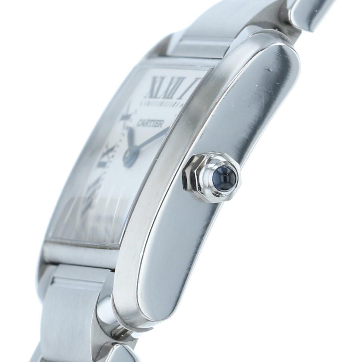【中古】Cartier (カルティエ) タンクフランセーズSM 時計 クオーツ/レディース Tank Francaise White/ホワイト W51008Q3 used:A
