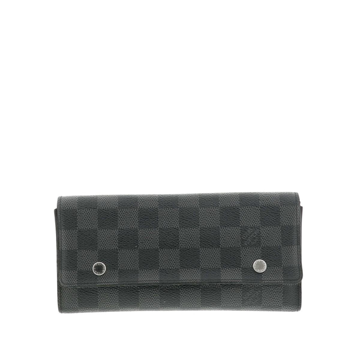 【中古】LOUIS VUITTON (ルイヴィトン) ポルトフォイユ・ロン モデュラブル 財布 長財布(小銭入有)  Black N63084 used:B