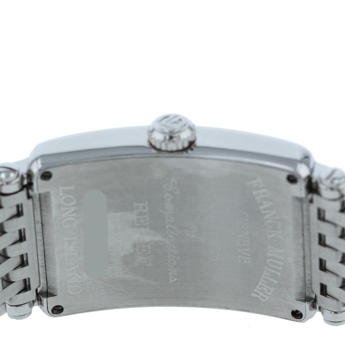 【お値下げ品】【中古】 FRANCK MULLER (フランクミュラー) ロングアイランド レリーフ 時計 クオーツ/レディース  Silver/シルバー 902QZ used:A