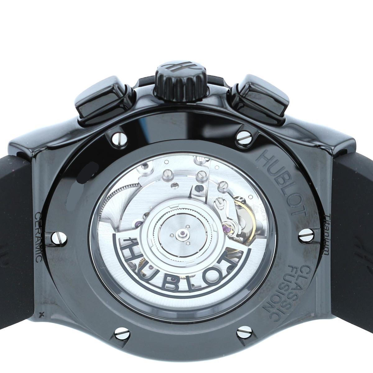 【中古】HUBLOT (ウブロ) クラシックフュージョン クロノグラフ ブラックマジック 時計 自動巻き/メンズ classic-fusion Black 521.CM.1771.RX unused:S
